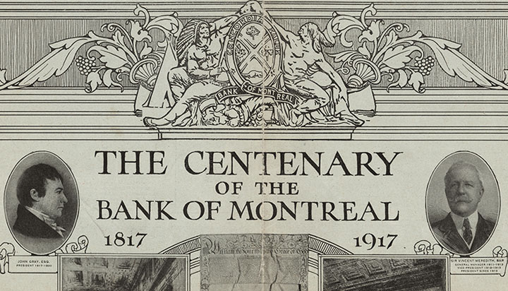 On November 10 1917 The Standard A Montreal Newspaper Published Feature In Its Ilrated Section To Commemorate Bank Of S 100th